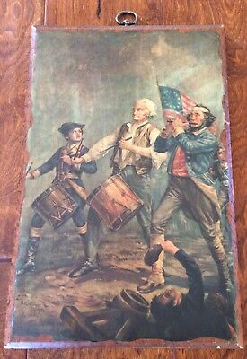 THE SPIRIT OF `76 1876  AM Willard picture on wood plaque 14 x 9 x 1 americana
