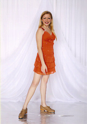 Orange Dress Size Small JAZZ TAP Dance Costume 12-14yr - FLASH SALE