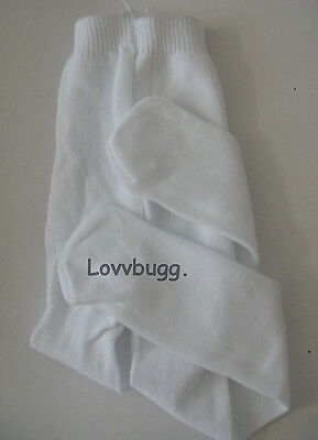 """Lovvbugg White Tights for 18"""" American Girl Doll Clothes"""