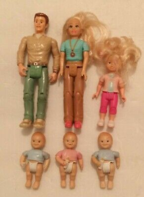VINTAGE FISHER PRICE LOVING FAMILY DOLLHOUSE FIGURES LOT a