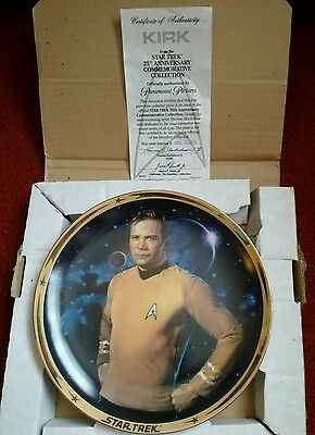 Kirk - Star Trek 25th Anniversary  Hamilton Collection Plate