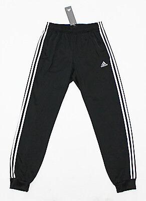 NWT ADIDAS Black-White Cuffed Men's Track Pants Small pocket sweatpants jogger