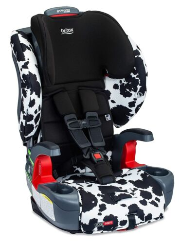 Britax Grow With You ClickTight Child Safety Booster Car Seat Cowmooflage 2.0