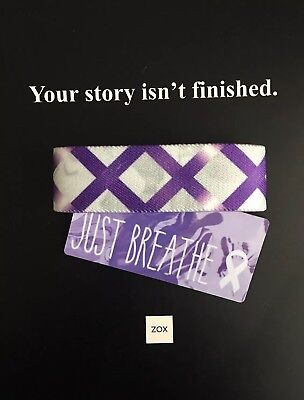 ZOX Strap JUST BREATHE - Reversible Wristband - New - White Ribbon Of Purity