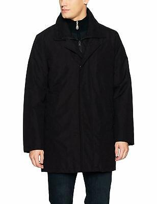 Kenneth Cole New York Men's Radford 2-in-1 Raincoat Top Coat Black XL Clothing, Shoes & Accessories