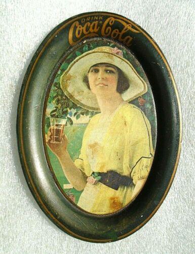 graphic original old Golf Girl tin tip tray advertising Coca Cola