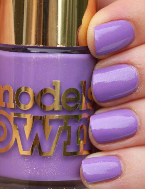 MODELS OWN Diamond Luxe Nail Polish in Pear Purple 10ml NP221SALE!