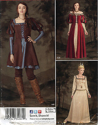 Snow White Huntsman Queen Ravenna Costume PATTERN Simplicity 1773 Medieval 6-22](Huntsman Costume Snow White)