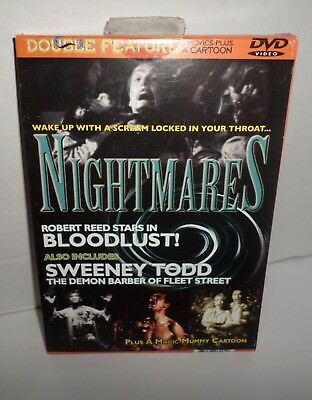 Bloodlust & Sweeny Todd DVD Double Feature Classic Horror + Magic Mummy Cartoon](Halloween Mummy Cartoon)