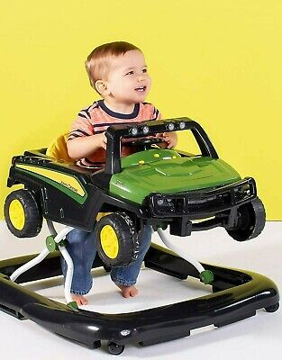 Bright Starts 3 Ways to Play John Deere Gator Baby Walker with Activity Station