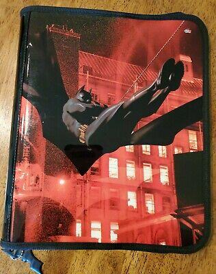Red Disney Batman Begins 3 Ring Binder Zippered Organizer By Animations