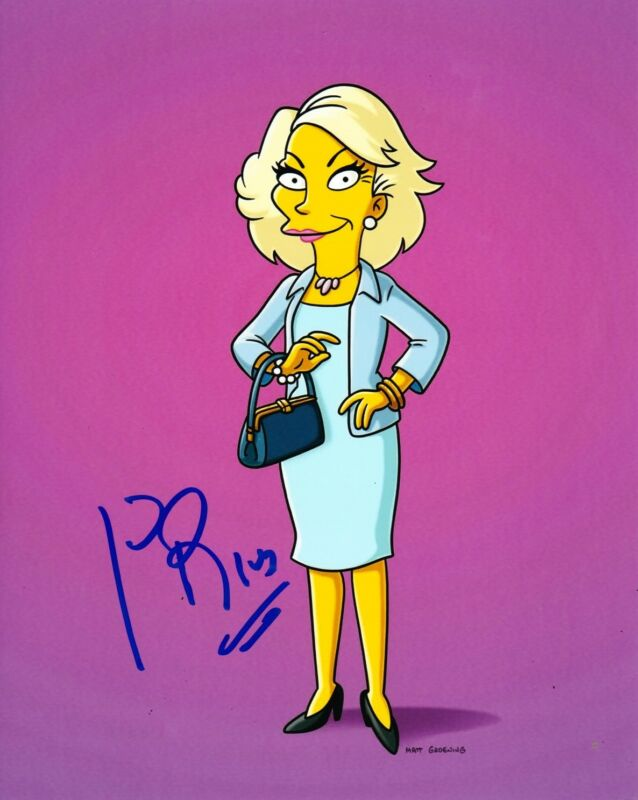 JOAN RIVERS SIGNED 8X10 PHOTO AUTOGRAPH THE SIMPSONS FOX FASHION ICON COA A
