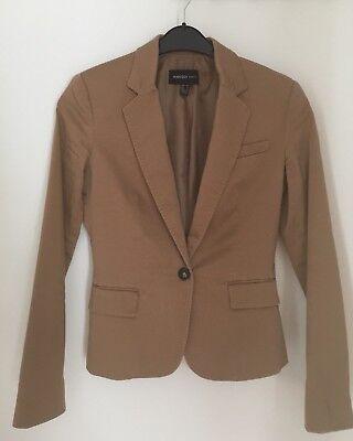 MANGO Jacke 36 Blazer camel beige braun ocker Dress Kostüm Jacket Knöpfe S