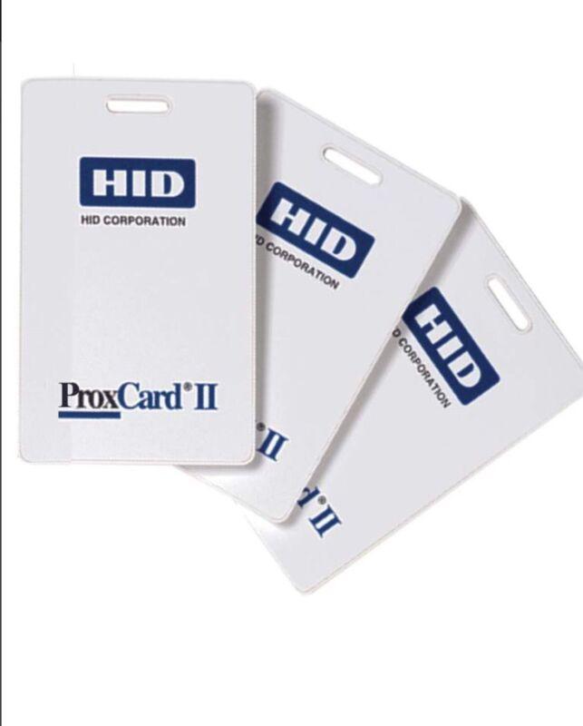 50 Keycards HID 1326 ProxCard II Access Control Cards Key Fobs 26-Bit 125 kHz