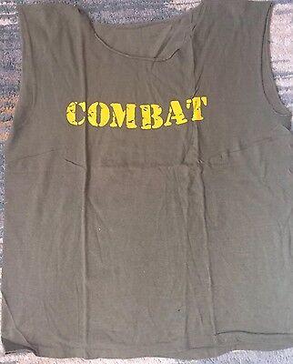 RARE Combat Records T shirt 1985 Slayer Venom Megadeth Exodus Thrash Metal