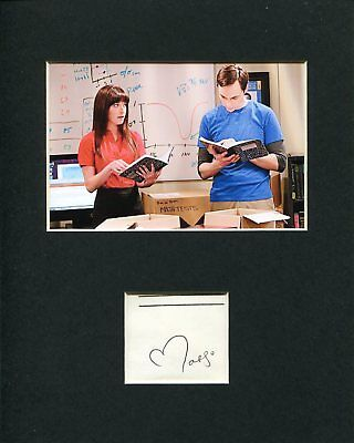 Margo Harshman The Big Bang Theory Alex Jensen Signed Autograph Photo Display