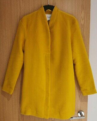 ASOS Jacqueline De Yong Yellow Light Coat/Jacket Size Small