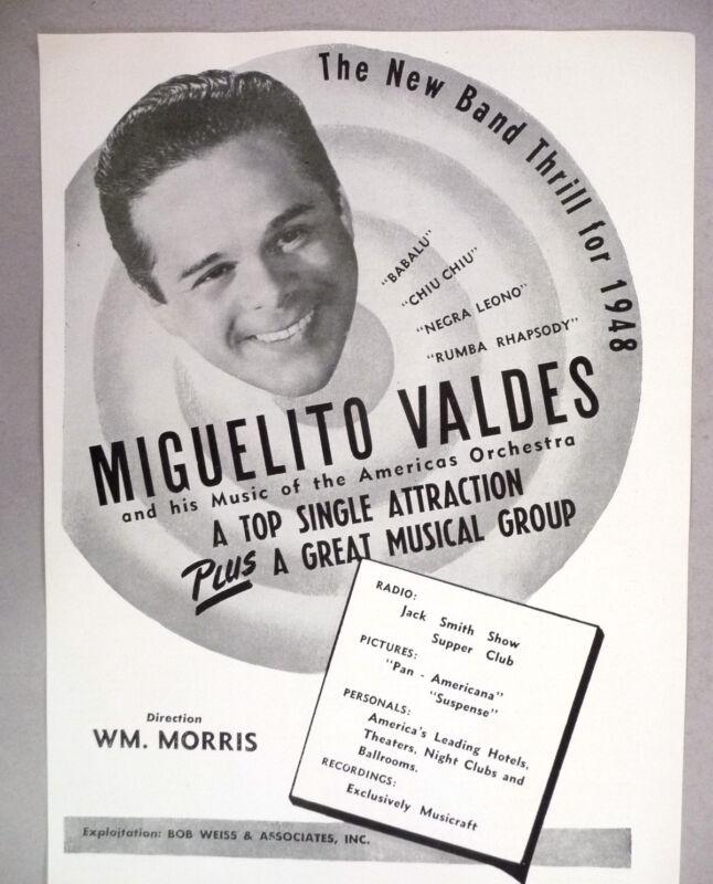 Miguelito Valdes PRINT AD - 1947-1948