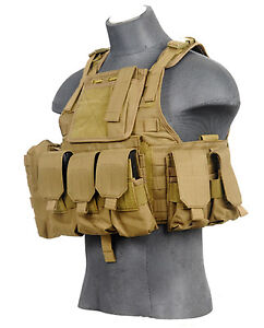 Lancer-Tactical-Assault-MOLLE-Plate-Carrier-Vest-Coyote-Tan-CA-305T