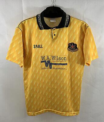 Dumbarton Home Football Shirt 1991/92 Adults Large Spall A261 image