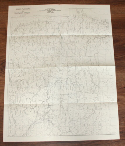 1975 Oregon Gold & Gems & Union Pacific Maps: Then & Now: 6 two-sided Maps