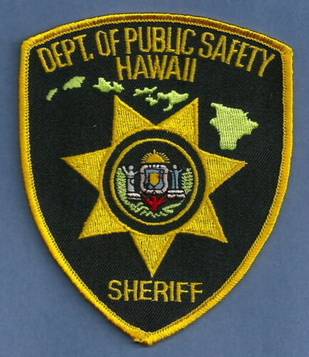 HAWAII STATE DEPARTMENT OF PUBLIC SAETY SHERIFF POLICE PATCH
