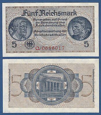 5 Reichsmark Reichskreditkassen (1939-1944)  KASSENFRISCH / UNC Ro.553 a