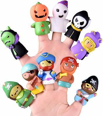 FUN LITTLE TOYS 10 PCs Halloween Finger Puppets for Kids, Best Choice for