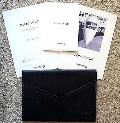 BRITISH AIRWAYS ~ CONCORDE ~ PORTFOLIO ~ STATIONARY ~ INFO BOOK ~ CERTIFICATE