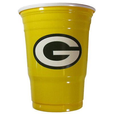 GREEN BAY PACKERS PLASTIC GAMEDAY CUPS 18OZ 18CT SOLO TAILGATE PARTY SUPPLIES - Green Bay Packers Party Supplies