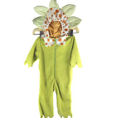 Halloween Fuzzy Baby Toddler Flower Costume 12 to 18 Months Zip Front 1 Piece - 12 To 18 Months Halloween Costumes