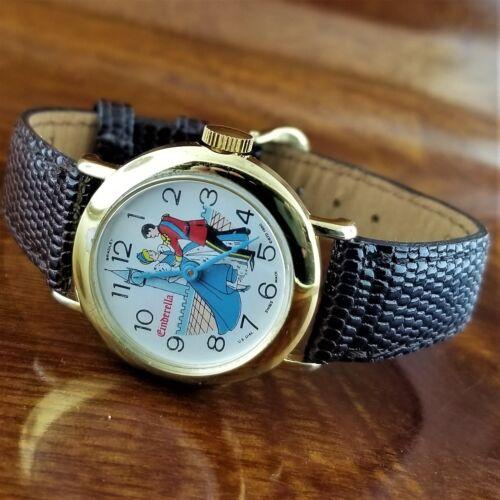 1960 DISNEY Swiss BRADLEY Cinderella & Prince Dancing Ball Mechanical Wind Watch