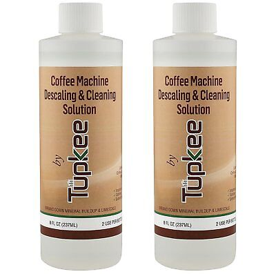 Tupkee Coffee Descaler & Cleaning Solution For Keurig & Drip Coffee Maker 2 Pack