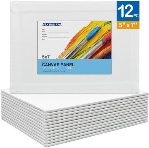 Artist Painting Canvas Panels,Canvas Boards,12 Pack,100% Cotton,Primed,Acid Free