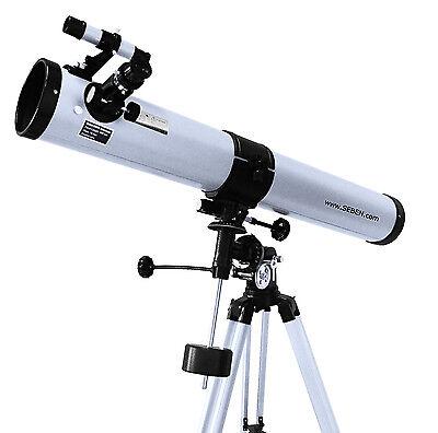 Seben 900-76 Reflektor Teleskop Neu Big Pack