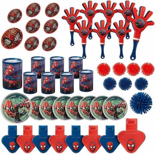 Spider Man Webbed Wonder Party Supplies Theme Birthday Decorations - Value Pack