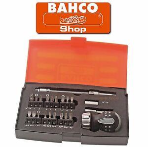BAHCO 22 Piece STUBBY Ratchet Screwdriver 1/4