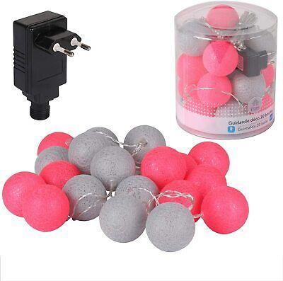 Guirnalda de luces eléctrica 20 Bolas neón diámetro 6 cm para decoracion...