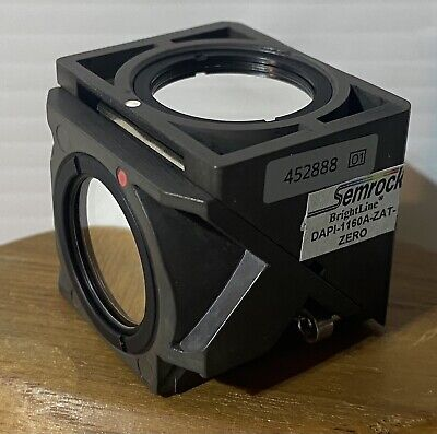 Zeiss 452888 Fluorescence Reflector Cube Semrock Brightline Dapi-1160a-zat-zero