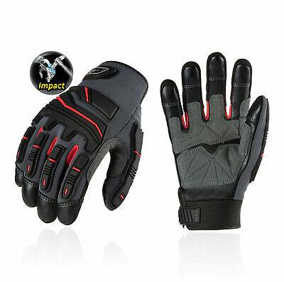Vgo 1pair Grain Cowhide Leather Heavy Duty Work Glovestouchscreenca9730hl