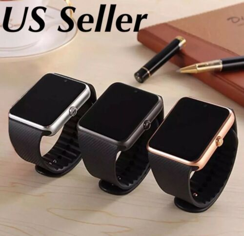 Latest Bluetooth Smart Watch with Camera Text Call with mic for all gt08,dz09 Cell Phones & Accessories