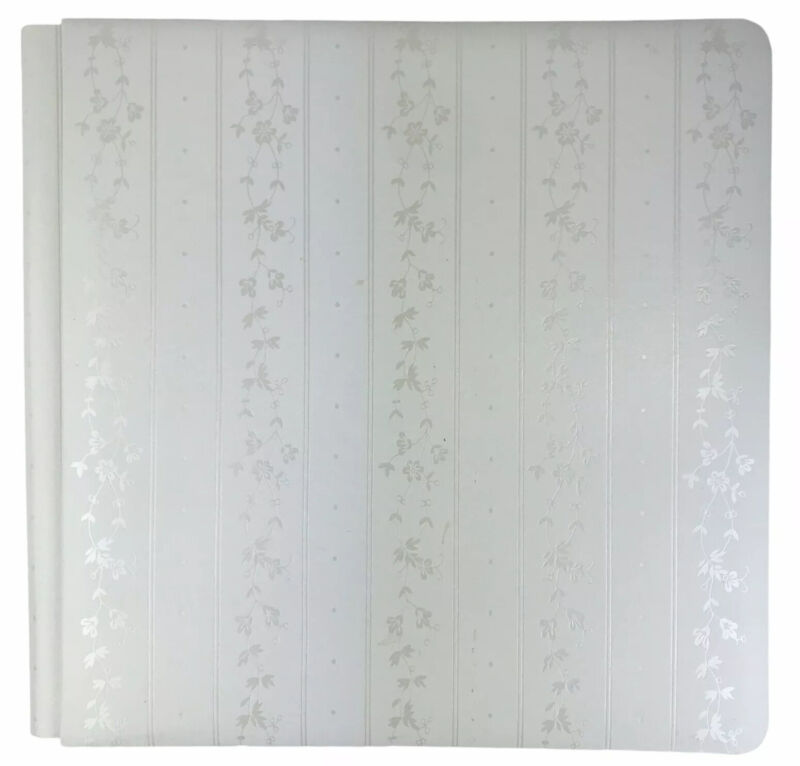 Creative Memories White Album Old Style Promise 12 x 12 with 15 Blank Sheets