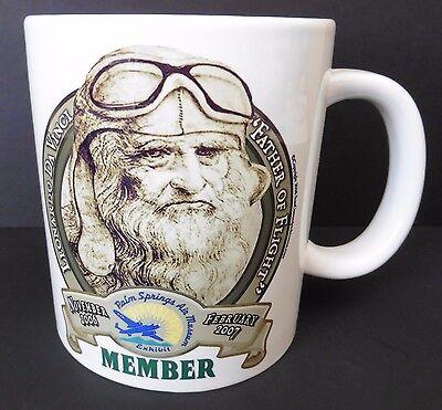 Palm Springs AIR Museum Coffee Mug MEMBERS Aviation Da Vinci LARGE NEW
