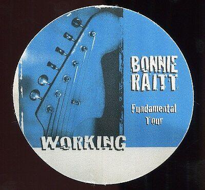 BONNIE RAITT 1998 Fundamental Concert Tour Backstage Pass Authentic stage PERRI