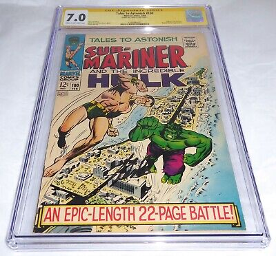 Tales to Astonish #100 CGC SS Signature Autograph STAN LEE Hulk vs Sub-Mariner