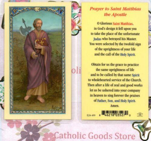 St. Saint Matthias - Prayer to St Matthias the Apostle - Laminated  Holy Card