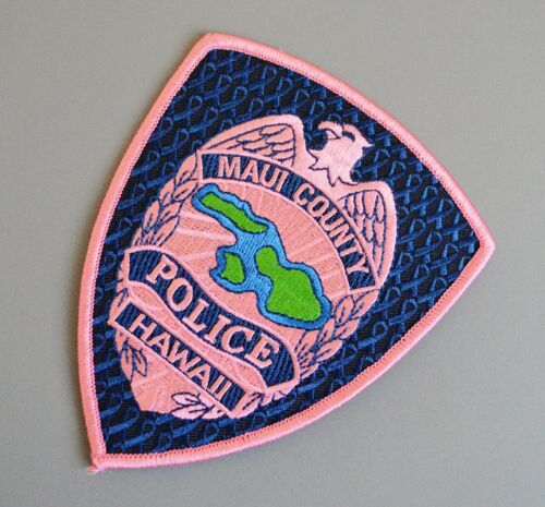 Maui County Hawaii Police Pink Patch +++ Breast Cancer Awareness HI