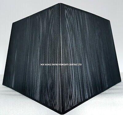 Eckig Große Schwarze Lampenschirm Breite & Tiefe 37.5cm Körpergröße 27cm Elegant (Schirm Tief)