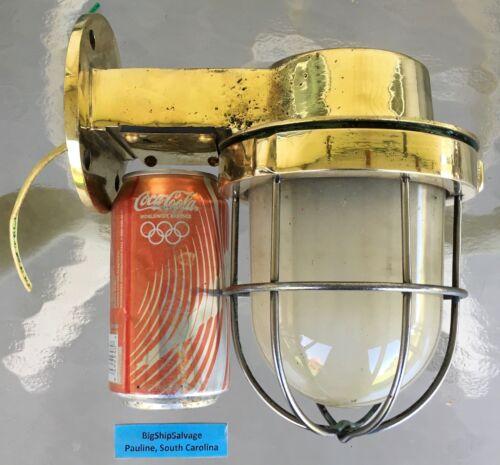 Original Cast Brass Nautical Light - Frosted Globe