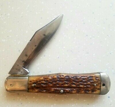Cattaraugus 12829 King Of The Woods Folding Knife Pre 1906 Coca Cola Bottle